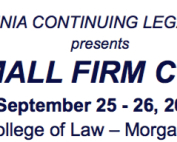 West Virginia CLE Solo & Small Firm Conference September 25 & 26, 2015