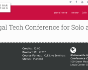Ohio State Bar Association Legal Technology & Practice Management Conference