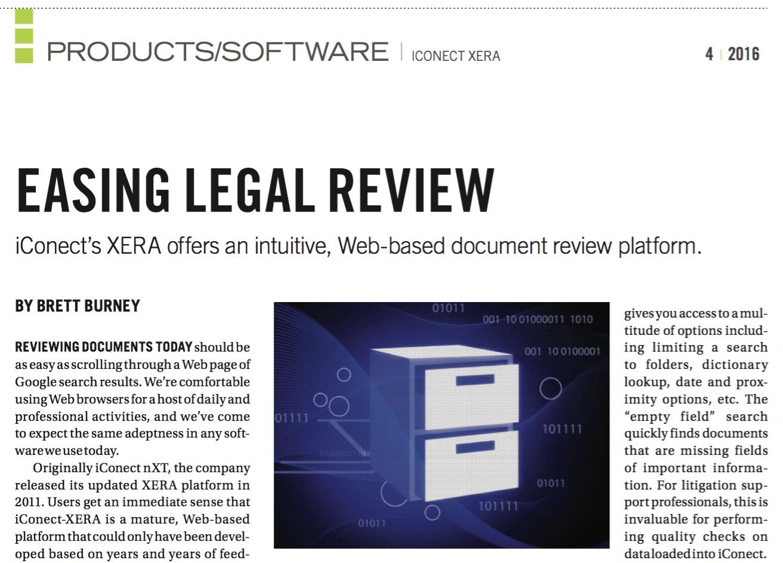 IConectXERA Easing Legal Review Brett Burney Reviews IConectXERA - Legal document review