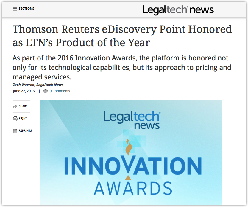 brett burney s review of thomson reuters ediscovery point quoted in